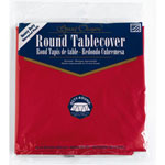Creative Converting 40127 Real Red Plastic Table Covers, 82""