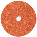 3M Cubitron II Fibre Discs 987C, Shaped Ceramic Grain, 4 1/2 in Dia., 36 Grit