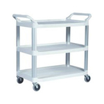 Rubbermaid Off White Utility Cart Open Sides