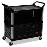 Rubbermaid Black 3 Shelf Av/Equipment Cart