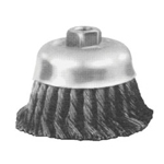 "Advance Brush 6"" Knot Wire Cup Brush .014, Carbon Steel Wire"