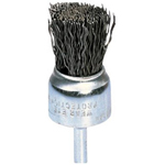 "Advance Brush 1/2"" Crimped Wire End Brush .010, Carbon Steel Wire"
