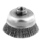 "Advance Brush 3-1/2"" Crimped Wire Cup Brush .014 , Stainless Steel Wire"