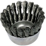 "Advance Brush 2-3/4"" Knot Wire Cup Brush .020, Carbon Steel Wire 5/8""-11"