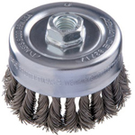 "Advance Brush 6"" Combitwist Knot Cup Brush .023 , Stainless Steel Wire 5/8""-11"