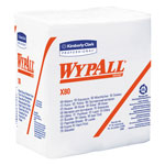 WypAll* X80 Cloths, HYDROKNIT, 1/4 Fold, 12 1/2 x 13, White, 50/Box, 4 Boxes/Carton