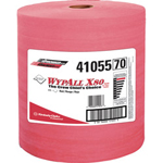 Kimberly-Clark X80 Cloths, HYDROKNIT, Jumbo Roll, 12 1/2 x 13 2/5, Red, 475 Wipers/Roll