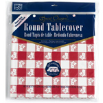 "Creative Converting Redgingham 82""Plastic Round Table Cover"