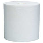 "Kimberly-Clark 12"" x 13.4"" White Wypall Jumbo Rag On A Roll 700/"