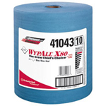 Kimberly-Clark Wypall X80 Shop Pro Cloth Towel Blue 475/roll