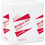 WypAll* X70 Cloths, 1/4 Fold, 12 1/2 x 12, White, 76/Pack, 12 Packs/Carton