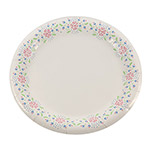 "Solo Paper Plate, 10"" with Floral Rim"