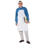 "Kimberly-Clark 28"" x 40"" Denim Blue Kleen Guard Select Apron"