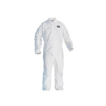 Kimberly-Clark Large White Kleenguard Gen. Protect Coverall Zi