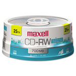 Maxell 25 x CD-RW - 700 MB (80min) 4X - Storage Media