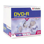 Verbatim DataLifePlus - 50 x DVD-R - 4.7 GB 8X - White - Wide Thermal Printable Surface - Spindle - Storage Media