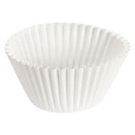 "Hoffmaster Fluted Bake Cup, 6"", White"