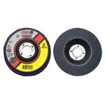 "CGW Abrasives 7"" x 7/8"" Zs-60 T29 Reg Stainless Steel Flap Disc"