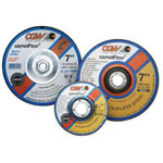 "CGW Abrasives 4"" x 14x3/8"" A24-r-bf Steelt27 Deep Ct Whl"