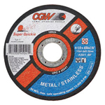 "CGW Abrasives 4-1/2"" x .045"" x 7/8"" Type1 Super Quickie Wheel"