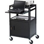 Bretford CA2642NS-E5 Adjustable Projector Cart w/Cabinet