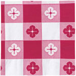 "Hoffmaster Beverage Napkin, 10""x10"", Red Gingham"