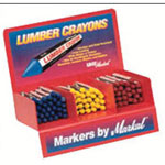 Markal #500 Lumber Crayon Display w/60 Each 80321 80322
