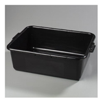 "Carlisle Foodservice Products Black Comfort Curve Bus Box, 20"" x 15"" x 7"""