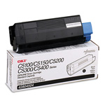 Okidata Type C6 Toner Cartridge - 1 x Black - 3000 Pages