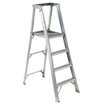 Louisville Ladder 4' Aluminum PlatForm Step Ladder