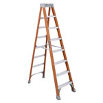Louisville Ladder FS1500 Series Fiberglass Step Ladder, 8 ft, 5-Step, Red