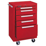 "Kennedy Red 20"" 5 Drawer Rollercabinet"