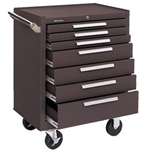 Kennedy 00608 Roller Cabinet 7 Drawers Brown