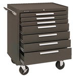 Kennedy 00071 Roller Cabinet 7 Drawer Brown