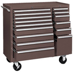 Kennedy 64314 Maint Cart 15 Drawer B.b Slides Brown