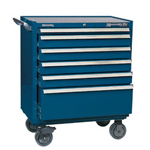 Kennedy 00875 Smooth Blue 6 Drawer Maint. Pro Roll. Cab.