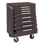 Kennedy 00618 Roller Cabinet 8 Drawers Brown