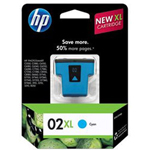 HP 02XL Cyan Ink Cartridge ,Model C8730WN140 ,Page Yield 600