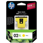 HP 02XL Yellow Ink Cartridge ,Model C8732WN140 ,Page Yield 750