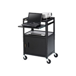 Bretford Adjustable Projector Cart with Cabinet CA2642NS - cart