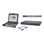 "APC 2x1x16 Digital KVM with 17"" Rack LCD Monitor Keyboard Mouse - KVM Console - TFT - 17"" - with 8 CAT5/IP KVM PS/2 Server Modules"