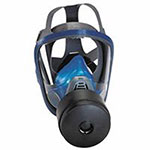 MSA Chin-Type Gas Mask, Medium, Silicone, Particles, Vapors and Gases