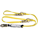 MSA Workman Twin-Leg Shock-Absorbing Lanyard, LC/GL3100 Connection, 2 Legs