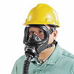 MSA Gas Mask Facepiece,Ultravue & Ultra Elite Full Facepiece Respirator, BK, 6/PK