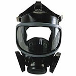 MSA Ultra-Twin Full-Facepiece Respirator, Silicone, Particles and Gases