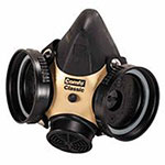 MSA Comfo Classic Respirator, Large, Silicone, Particles and Gases
