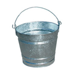 Magnolia Brush 14 Quart Galvanized Pail