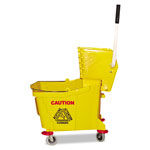 Magnolia Brush Plastic Mop Bucket w/Wringer, Yellow
