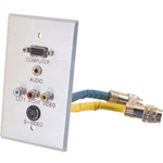 Cables To Go RapidRun Integrated Wall Plate - Wall Plate - VGA / S-Video / Composite Video / Audio