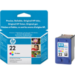 HP 22 Print Cartrid1 x Color (cyan, Magenta, Yellow)
